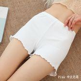 新款女士防走光夏季蕾絲薄款打底褲內外穿大碼三分保險短褲 JY8364【pink中大尺碼】