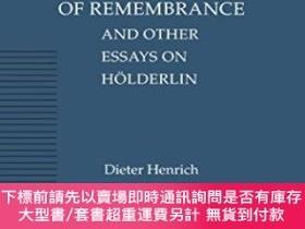 二手書博民逛書店The罕見Course Of Remembrance And Other Essays On Holderlin