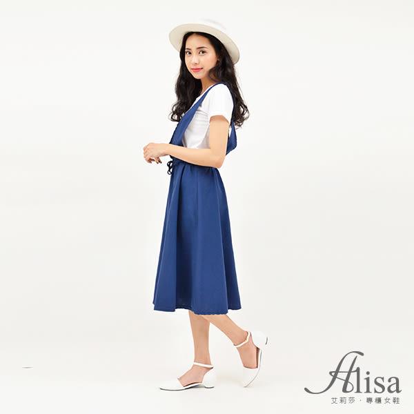 專櫃女鞋 素面繞踝低跟鞋-艾莉莎Alisa【107A326】白色下單區