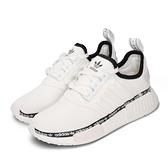 adiidas 休閒鞋 NMD_R1 白 黑 男鞋 女鞋 Boost 中底設計 運動鞋 襪套式 【ACS】 FV7306