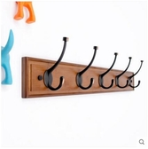 實木客廳牆上掛衣架創意掛鉤臥室牆壁掛衣鉤-5鉤
