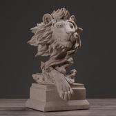 北歐現代簡約獅子雕塑擺件動物藝術品 家居飾品客廳軟裝工藝品