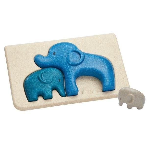 《 泰國 PLAN TOYS 》立體拼圖-抱抱大象 / JOYBUS玩具百貨