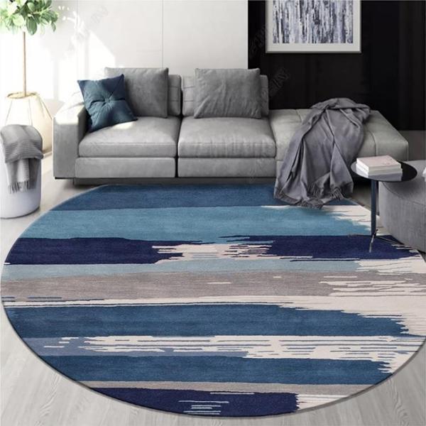 圓形地墊 北歐圓形地毯客廳茶幾ins地毯臥室網紅床邊書房間吊籃電腦椅地墊
