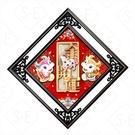 紅木畫框斗方-金牛開運9168- 勝億春聯年節飾品批發零售