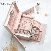 首飾盒 首飾盒公主歐式韓國手飾品盒首飾收納盒大容量木質項鏈耳環盒帶鎖 源治良品