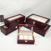 木質手錶盒首飾盒3位5格天窗收藏盒帶蓋6格手錶收納10位手鍊展示多色小屋