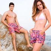 海灘褲 泳褲 情侶沙灘褲速乾寬鬆海邊度假五分短褲溫泉褲泳褲 免運