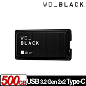 WD BLACK 黑標 P50 Game Drive SSD 500GB 電競外接式固態硬碟 WDBA3S5000ABK-WESN