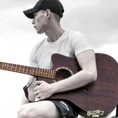 木吉他 復古舊時光民謠吉他初學者41寸手工擦色木吉他學生男女適用xw