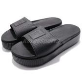 Puma 拖鞋 Platform Slide Wns EP 黑 全黑 厚底 涼拖鞋 女鞋【PUMP306】 36612202