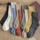 襪子女棉中筒襪ins潮韓版日繫學院風長襪秋冬薄黑色堆堆襪女韓國  新年禮物