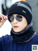 帽子男 帽子男冬天毛線帽加厚保暖針織帽潮青年韓版戶外騎車防寒棉帽冬季 印象部落
