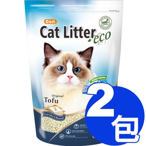 【寵物王國】CARL卡爾-環保豆腐貓砂(原味)6L x2包免運組合 (324537)