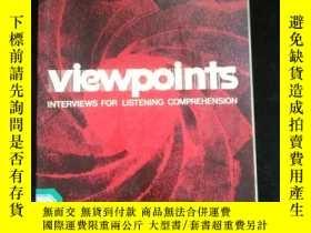 二手書博民逛書店Viewpoints罕見INTERVIEWS FOR LISTENING COMPREHENSION..Y16