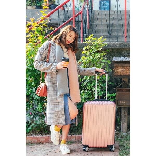 行李箱/登機箱/旅行箱 雅緻拉桿箱 石墨綠/玫瑰金 LK-8019 20吋 dayneeds