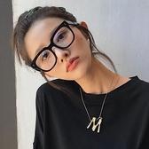 定制韓版防藍光大方框復古網紅黑色粗框平光鏡女顯瘦素顏近視眼鏡框架優品匯