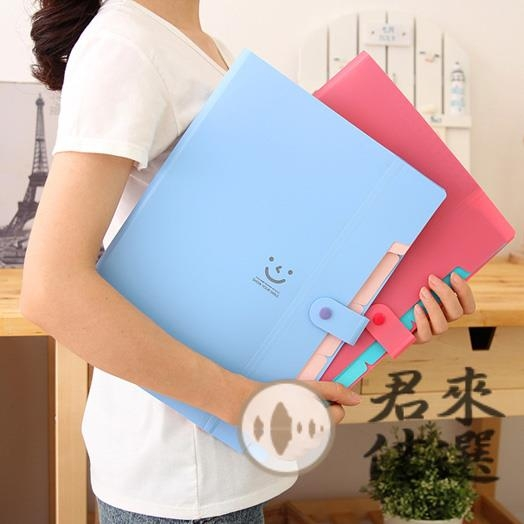 多層分類文件夾A4試卷袋韓版文件袋手提資料袋收納盒【君來佳選】