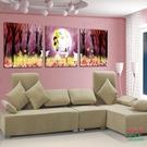 【優樂】無框畫裝飾畫三聯卡通畫客廳臥室裝飾沙發背景浪漫夢幻公主