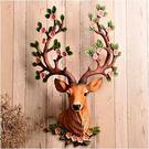 【彩虹部落】鹿頭壁掛壁飾仿真動物頭復古酒吧客廳招財創意挂件牆飾裝飾品