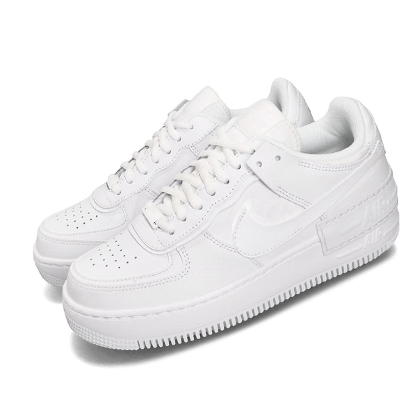 Nike 休閒鞋 Wmns Air Force 1 Shadow 白 全白 女鞋 運動鞋 【PUMP306】 CI0919-100
