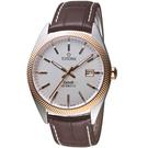TITONI宇宙系列摩登經典機械腕錶  878 SRG-ST-606 咖啡皮