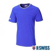 K-SWISS Ks Logo Crew Neck Tee印花短袖T恤-男-藍