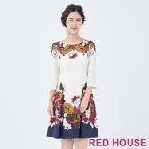 【RED HOUSE 蕾赫斯】印花花朵洋裝(共2色)