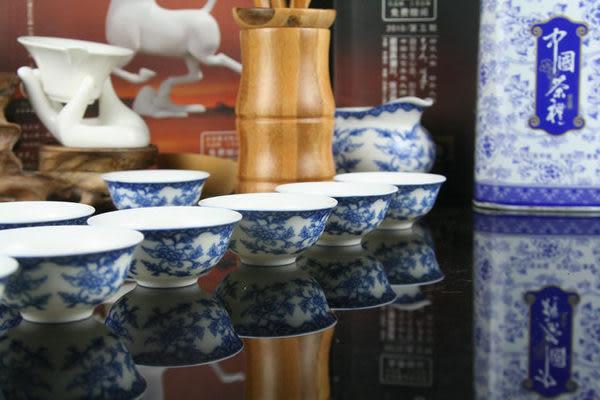 中逸 滿彩青花蘭藤 骨瓷茶具