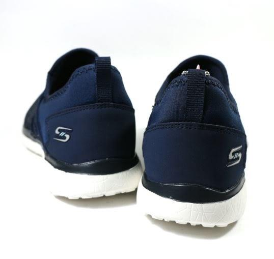 [陽光樂活] SKECHERS (女) 時尚休閒系列 MICROBURST UNDER WRAPS - 23322NVY 金屬條紋藍
