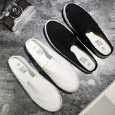 懶人鞋—新款男士拖鞋夏韓版室外帆布懶人鞋包頭半拖一腳蹬學生鞋子男 korea時尚記
