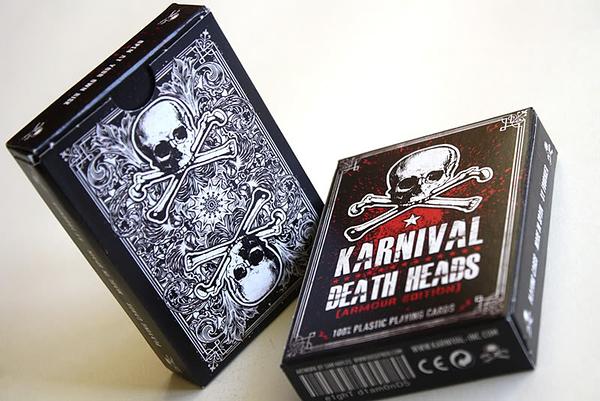 【USPCC 撲克】karnival DEATH HEADS 100%塑膠牌 嘉年華死亡頭ARMOUR EDITION