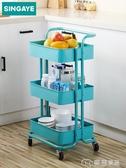 浴室置物架置物架落地臥室廚房小推車用收納架可移動浴室帶輪手推車架子 麥吉良品YYS