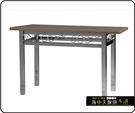 {{ 海中天休閒傢俱廣場 }} C-99 摩登時尚 餐廳系列 439-37 2.5X4尺美耐板餐桌/烤銀腳(顏色可挑選)