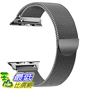 OULEDI適用於Apple Watch Band 38mm 40mm 磁性網狀迴路系列 灰色 [8美國代購]