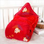 嬰兒睡袋 男女寶寶滿月嬰兒包被新生兒抱被春夏秋冬寶寶睡袋可脫膽紅色 可卡衣櫃