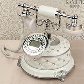 家用電話仿古電話機座機美式電話機賓館家用白色固定辦公古董復古電話 【七月好物】
