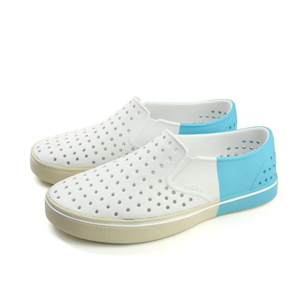 native MILES BLOCK 懶人鞋 洞洞鞋 防水 雨天 白色 藍色 男鞋 女鞋 11104602-8452 no660