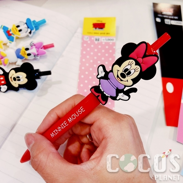正版 韓國大創 迪士尼 米奇米妮黛西唐老鴨 圓珠筆 原子筆 黑筆 0.38mm COCOS PP170