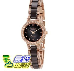 [103美國直購] Armitron Women s 75/3919RGBN Brown Ceramic and Rose Gold-Tone Swarovski Crystal-Accented 女士手錶 $2691