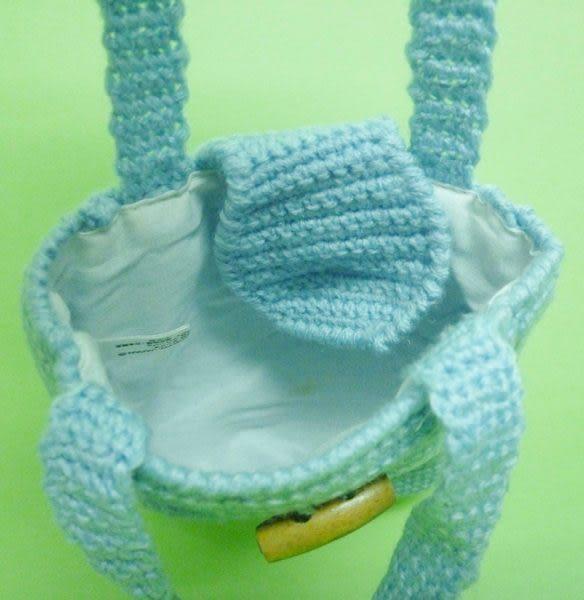 【震撼精品百貨】Hello Kitty 凱蒂貓~草莓小白花針織手提袋-方『藍/黃』(共兩款)