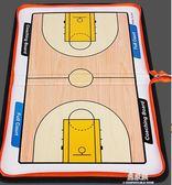 拉鍊包籃球戰術板足球戰術板 教練教學籃球比賽示教圖示盤YYS      易家樂