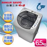 。省水標章認證。【SANYO台灣三洋】媽媽樂6.5kg輕巧型單槽洗衣機/ASW-87HTB