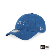 NEW ERA 9FORTY 940UNST 亞麻布料 NYC 藍 棒球帽