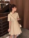 蛋糕裙 2021年新款法式氣質年輕款小個子復古少女旗袍改良版連身裙女夏季 寶貝寶貝計畫 上新
