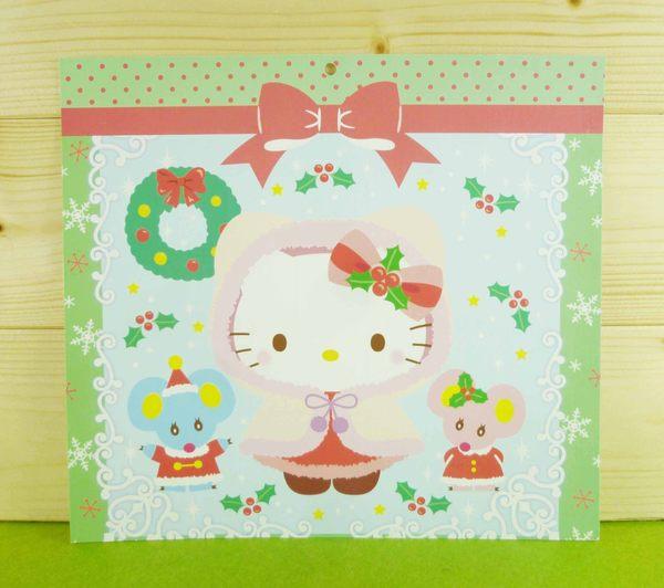 【震撼精品百貨】Hello Kitty 凱蒂貓~雙面卡片-綠聖誕