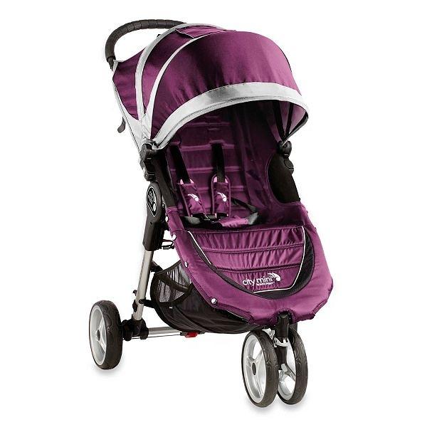 美國 baby jogger City Mini Fold 單手秒收輕運動推車 紫色