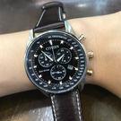 [萬年鐘錶] Eco Drive 光動能 Chronograph 三眼計時碼錶   AT2396-19X