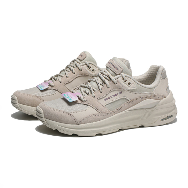 SKECHERS 休閒鞋 GLOBAL JOGGER 奶茶色 固特異鞋底 女 (布魯克林) 149626OFWT