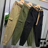 工裝褲女褲束腳蘿卜褲寬鬆bf復古港風褲子女【左岸男裝】